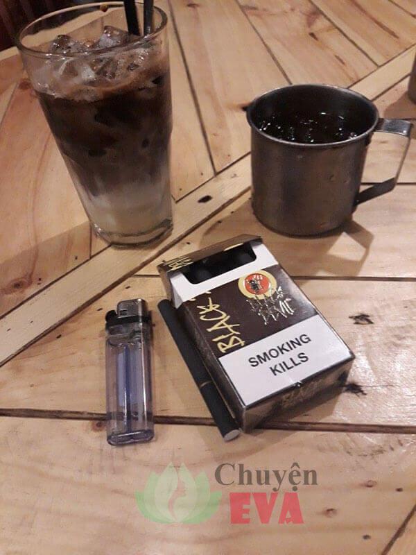cafe thuốc lá