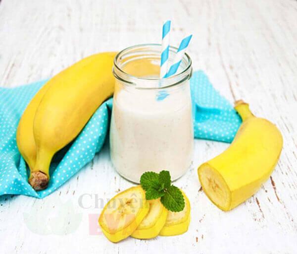 giảm cân với chuối và sữa