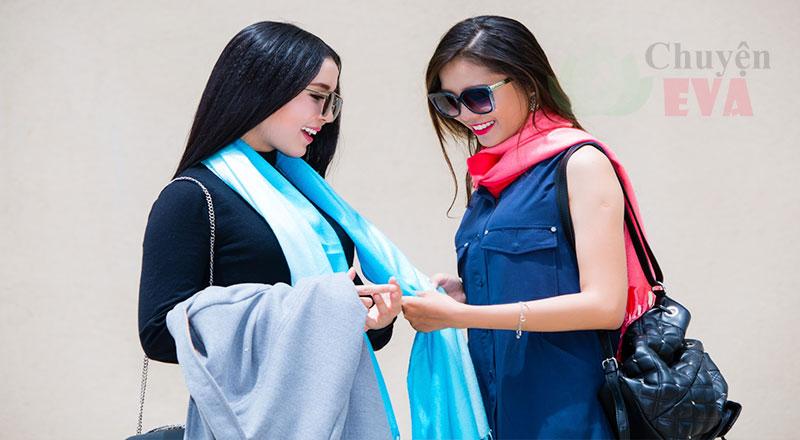 Loạt khăn voan, khăn quàng cổ với những kiểu thắt đáng yêu và sành điệu